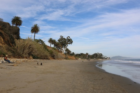 Butterfly Beach in Montecito Stock Photo