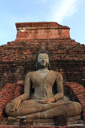 townspeople sculpture  Sukothai  Stock Photo - 7115660