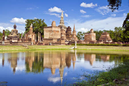 history Sukothai place park is ruined the capital of Sukothai kingdom in 13 centuries and 14 the North of Thailand photo