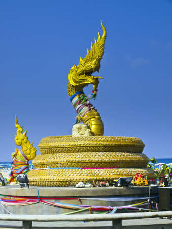 naga china: color gold big dragon on a be, (this picture is public place picture that nobody is owner of .