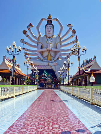 Kum-in involves a hand that end temple veers the wind Ko Samui Thailand photo