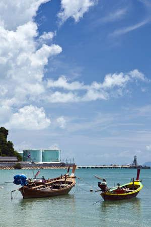 the fishing boat on Thai sea , Puket ,  photo