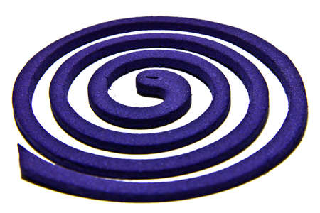 repellant: Mosquiito coil  is blue on white background