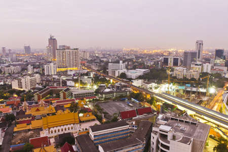 the scenery in the morning in bangkok , Thailand ,  photo