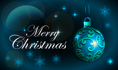 merry christmas background with blue concept