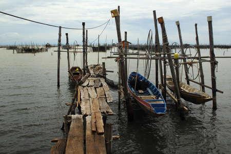 yo: Traditional boat park at Ko Yo, Songkhla ProvinceThailand.