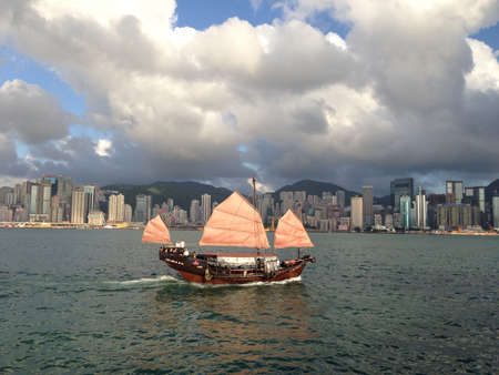 A ship in Hong Kong