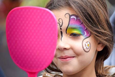 Face Painting Latin Girl With Smirk