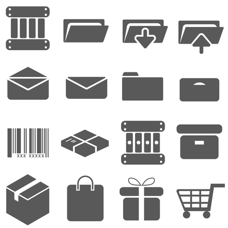 packaging icon: Packaging Icon Set Vector Illustration