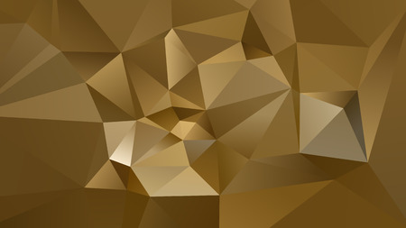 Abstract Gold Low Poly Background Vector
