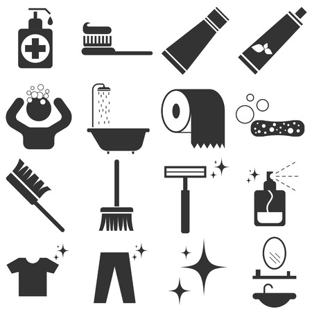 cleanliness: Personal Hygiene Icon Set