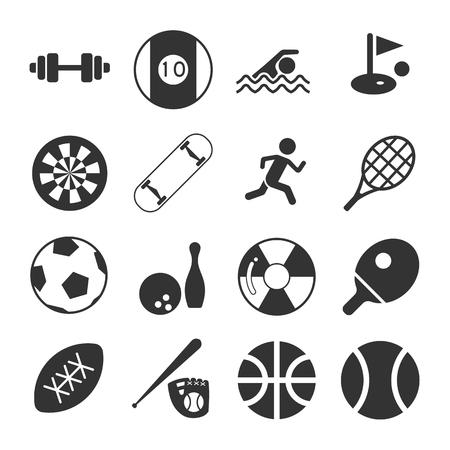 icono deportes: Deportes Icon Set Vectores