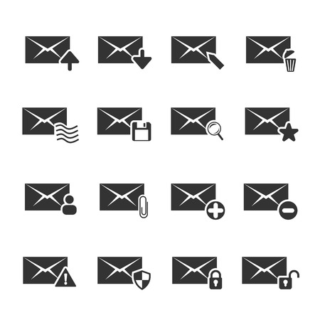 select all: Mail Icon Set Illustration