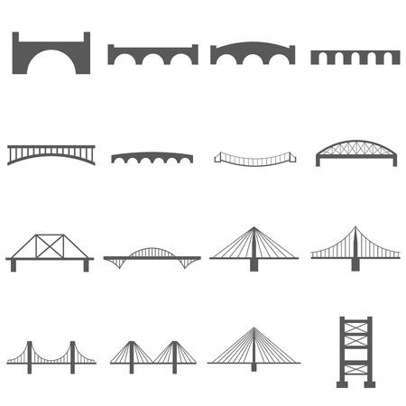 Pont Icons Set Vecteurs