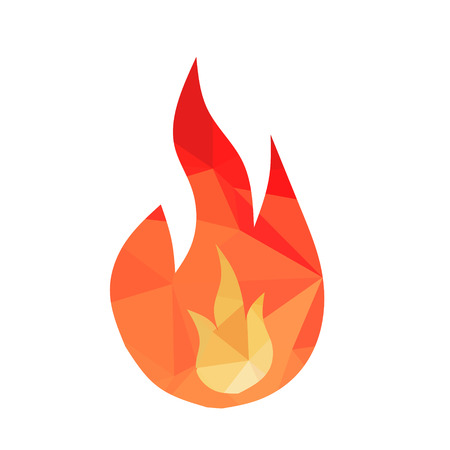 in low spirits: Geometric Fire Icon