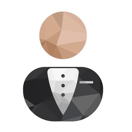 well dressed: Geometric Business Men Icon Illustration