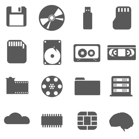vdo: Data storage set Icon