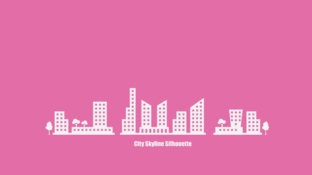 building silhouette: City Skyline Silhouette Background Vector