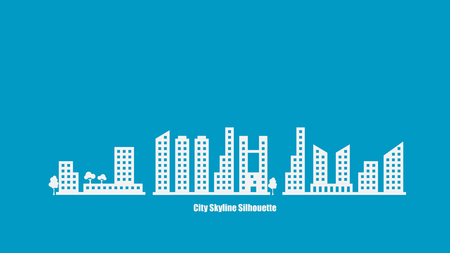 city background: City Skyline Silhouette Background Vector