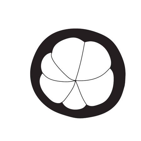 mangosteen: mangosteen icon vector