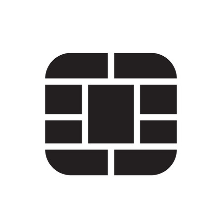 smart card: smart card chip icon vector