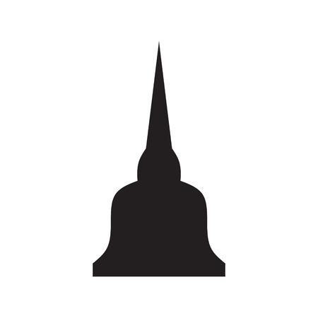 pagoda: buddha pagoda icon vector Illustration