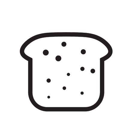 french toast: bread icon vector