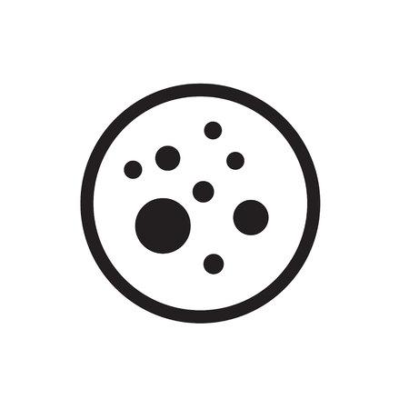 virus icon: virus icon vector