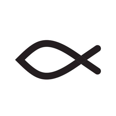 pez cristiano: pescados cristianos del icono del vector