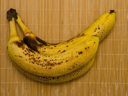 Matured bananas from above. Stockfoto