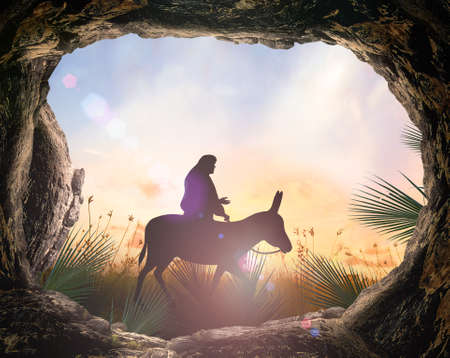 Palm Sunday concept Stock Photo