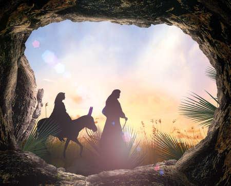 Geburt Christi-Konzept Standard-Bild