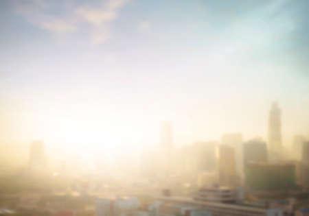 Blurred Bangkok city sunrise background