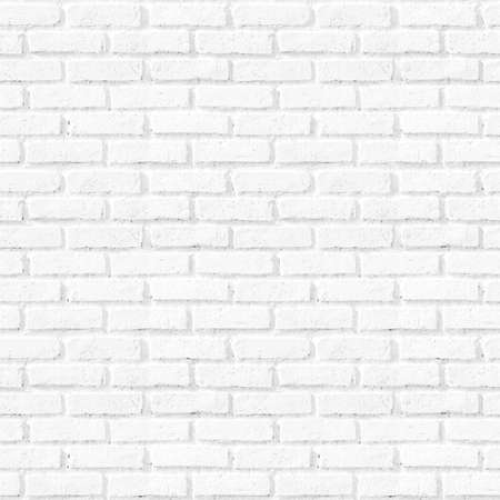 Bathroom pattern concept: Seamless vertical white brick wall texture background