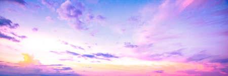 Sky autumn sunset background
