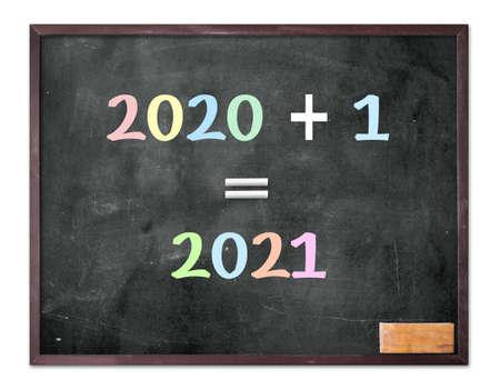 2020 -2021 change represents the new year 2021. Blackboard display 2020 + 1 = 2021