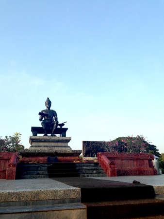 sukhothai: Pho Khun Ram Khamhaeng statue at Sukhothai