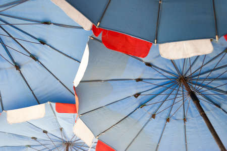 colorful beach umbrella  photo