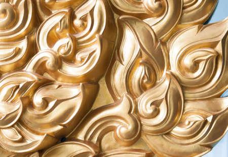 abstract golden Thai style art , called   Lai Thai   photo