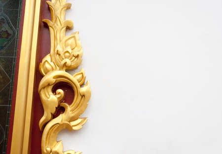 abstract golden lai Thai style art background pattern  photo