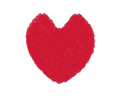 i nobody: classic red heart Illustration
