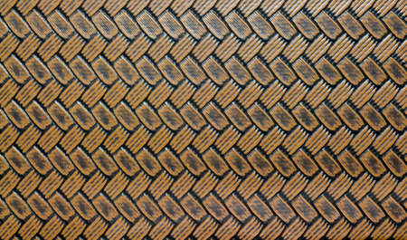 image of brown leather woven crossed lines textile seamless patterns photo