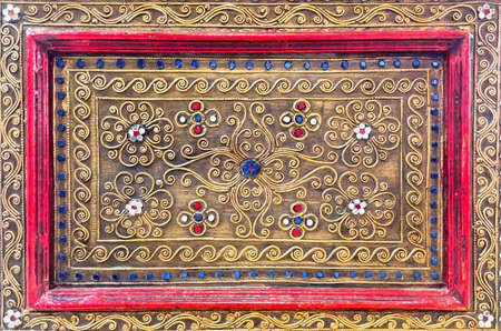 Detail of ornate luxury anceint wooden pattern sameless and accessory