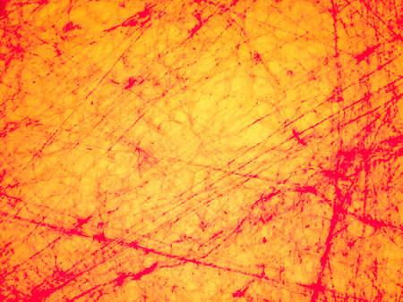 cellule nervose: le cellule nervose umane e di sangue rosso su sfondo giallo