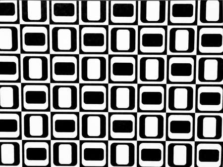 Seamless modern abstract black and white cubes pattern background photo