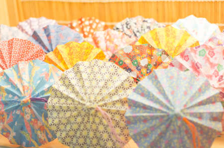 Colorful cocktail umbrellas photo