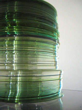 cds: stack of cds Stock Photo