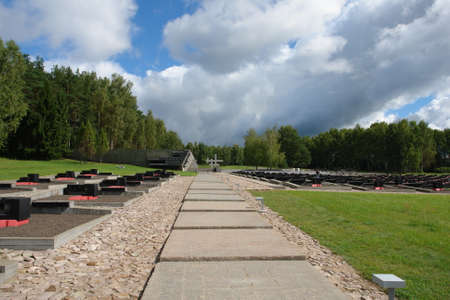 nazis: The memorial complex Khatyn - a monument to hundreds of Belarusian villages burnt by the Nazis during the great Patriotic war