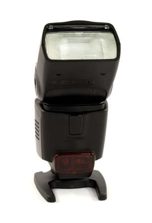 ttl: dSLR camera flash mounted as a slave Stock Photo
