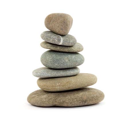 stack rock: zen spa stones studio isolated Stock Photo